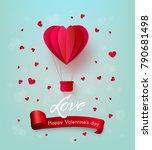vector happy valentines day ... | Shutterstock .eps vector #790681498
