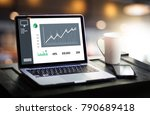 business man sales increase... | Shutterstock . vector #790689418