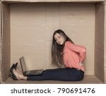 business woman struggles with... | Shutterstock . vector #790691476