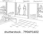 shopping mall graphic black...   Shutterstock .eps vector #790691602