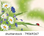 vector floral background with... | Shutterstock .eps vector #79069267