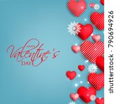 happy valentines day card... | Shutterstock .eps vector #790694926