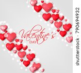 happy valentines day card... | Shutterstock .eps vector #790694932