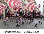 bucharest  romania   may 30 ... | Shutterstock . vector #790696225