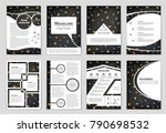 abstract vector layout... | Shutterstock .eps vector #790698532