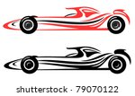 racing car vector emblem | Shutterstock .eps vector #79070122