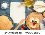 recipe and ingredients for... | Shutterstock . vector #790701592