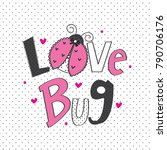 ladybug cartoon vector... | Shutterstock .eps vector #790706176