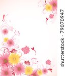 Vector Floral Background With...