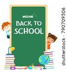 welcome back to school... | Shutterstock .eps vector #790709506