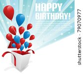 illustration for happy birthday ... | Shutterstock .eps vector #79070977