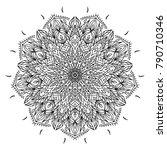 vector mandala design. vintage... | Shutterstock .eps vector #790710346
