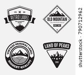 mountain logotypes with hill... | Shutterstock .eps vector #790712962