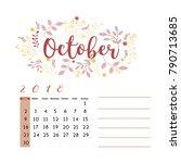 flower design for month ...   Shutterstock .eps vector #790713685