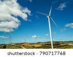 wind farm   wind turbines for... | Shutterstock . vector #790717768