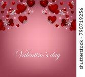 happy valentines day background ... | Shutterstock .eps vector #790719256