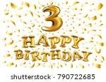 vector golden number three 3... | Shutterstock .eps vector #790722685