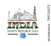 republic day  sale  banner | Shutterstock .eps vector #790724272