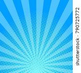 Blue Shining Halftone Design...