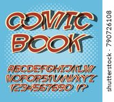 alphabet comics style and pop... | Shutterstock .eps vector #790726108