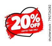 sale tag 20  off  banner design ... | Shutterstock .eps vector #790726282