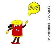 bye message | Shutterstock .eps vector #79072663