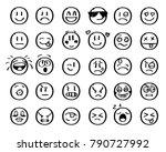 modern outline style emoji... | Shutterstock . vector #790727992
