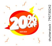 sale tag 20  off  discount...   Shutterstock .eps vector #790730242