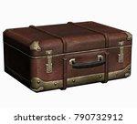 wardrobe suitcase 3d rendering | Shutterstock . vector #790732912