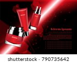 cosmetic set and blurred... | Shutterstock .eps vector #790735642