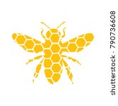 logo of a bee. stylized logo... | Shutterstock .eps vector #790736608