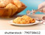delicious bakery. menu for... | Shutterstock . vector #790738612