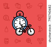 set of bicycle icons. vector... | Shutterstock .eps vector #790740682