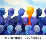 contrast different bright human ... | Shutterstock . vector #790740838