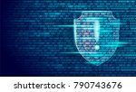shield guard safety system...   Shutterstock .eps vector #790743676