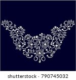 jewelry design  invitation... | Shutterstock .eps vector #790745032