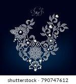 cockerel jewelry design ...   Shutterstock .eps vector #790747612