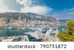 monte carlo city aerial... | Shutterstock . vector #790751872