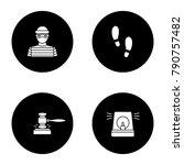 police glyph icons set. robber  ... | Shutterstock .eps vector #790757482