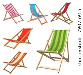 beach chair | Shutterstock .eps vector #79075915