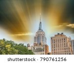 buildings of midtown manhattan. | Shutterstock . vector #790761256