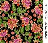 seamless pattern. golden... | Shutterstock . vector #790764616