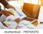 business man working on... | Shutterstock . vector #790765192