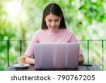 asian lady working with...   Shutterstock . vector #790767205