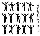 stick figure happiness  winner  ... | Shutterstock .eps vector #790775056