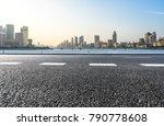 empty urban road and modern... | Shutterstock . vector #790778608