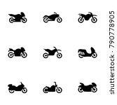 set of black icons isolated on...   Shutterstock .eps vector #790778905