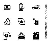 set of black icons isolated on... | Shutterstock .eps vector #790778908