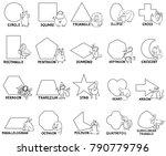 black and white cartoon vector... | Shutterstock .eps vector #790779796