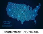 abstract image united states of ... | Shutterstock .eps vector #790788586